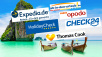 ©©istock.com/ saiko3p, Expedia, Holidaycheck, Opodo, Check24, Ab in den Urlaub, Thomas Cook