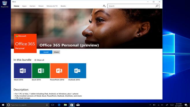 Office für Windows 10 S ©Micorsoft