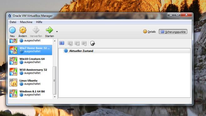 System in VirtualBox nutzen (1) ©COMPUTER BILD