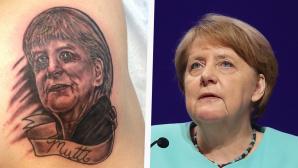 Merkel-Tattoo ©Screenshot: http://imgur.com/a/j89D9 / Sean Gallup/gettyimages
