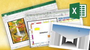Verrückte Excel-Experimente ©Microsoft, Screenshot Monopoly in Excel, Screenshot 3D Maze in Excel