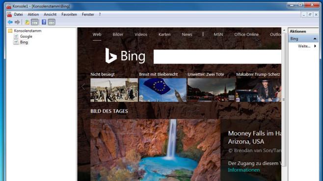 Microsoft Management Console (MMC): Minimalismus ©COMPUTER BILD