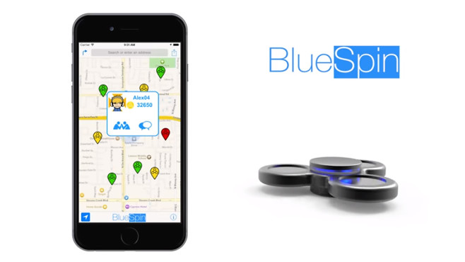 BlueSpin Bluetooth Spinner: Dieser Fidget Spinner ist echt smart! Dieser Fidget Spinner verbindet sich über Bluetooth mit Smartphones, damit die Spieler ihre Leistungen miteinander vergleichen können. ©BlueSpin
