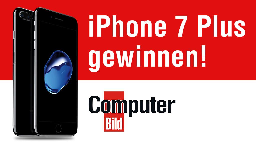 gewinnspiel iphone 7 plus mit 128 gb computer bild. Black Bedroom Furniture Sets. Home Design Ideas
