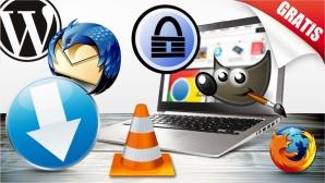 ©Okea - Fotolia.com, alphaspirit - Fotolia.com, Mozilla, Wordpress, VLC, GIMP, KeePass, COMPUTER BILD