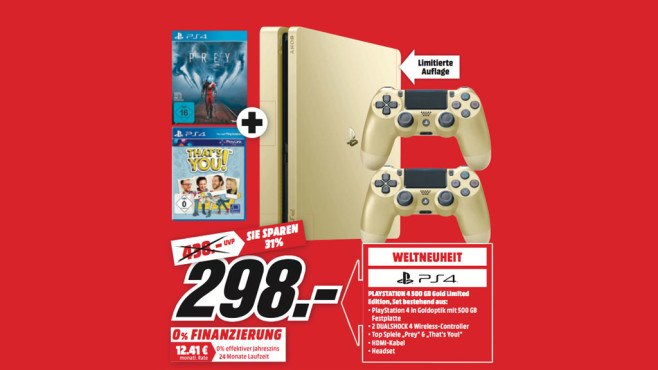 PS4 Gold: Angebot Media Markt © Media Markt