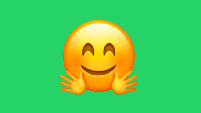 WhatsApp Emoji Umarmung © Apple/WhatsApp