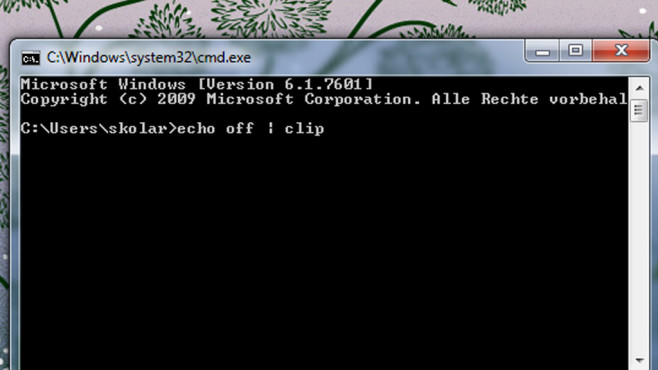 Kommandozeile manuell verwenden ©COMPUTER BILD