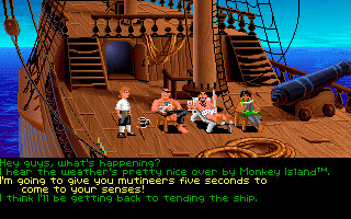 """30 Jahre VGA: Wie der PC zur Spielemaschine wurde Mit """"The Secret of Monkey Island"""" begründete Ron Gilbert 1990 seinen legendären Ruf als Spielemacher. ©LucasArts"""