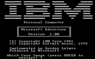 """30 Jahre VGA: Wie der PC zur Spielemaschine wurde So ging es los mit dem PC-Gaming: """"Microsoft Text Adventure"""" entführt 1981 Spieler in düstere Höhlen – wenn diese entsprechend viel Fantasie haben. ©Freundorfer"""