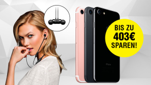 Beats(x)-Kopfhörer mit iPhone 7 im günstigen Tarif-Bundle ©Beats, Apple, COMPUTER BILD