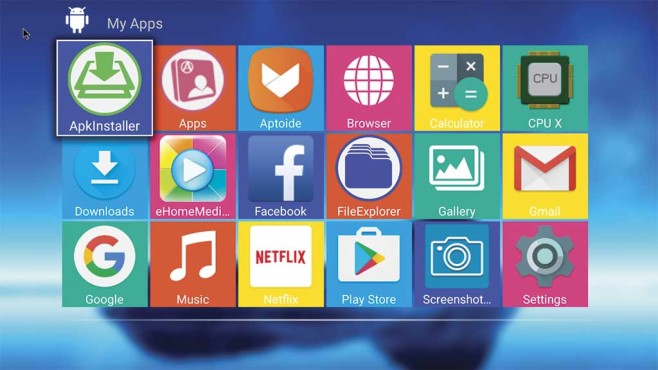 Startbildschirm MXQ Pro+ 4K ©MXQ Pro+ 4K