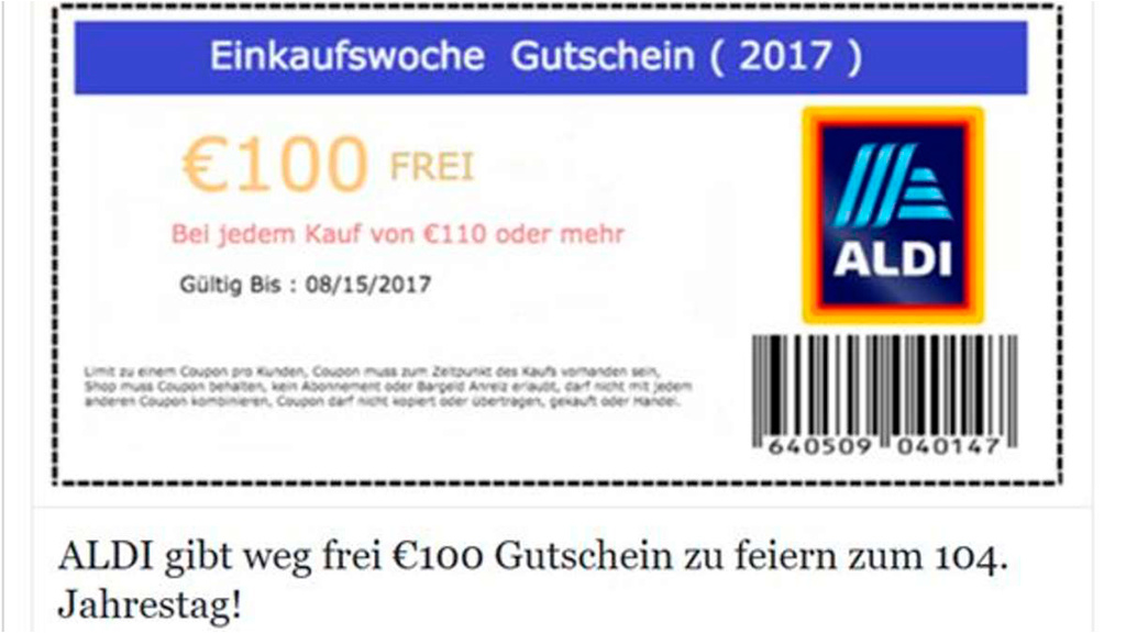 aldi 100 euro gutschein zu ergattern computer bild. Black Bedroom Furniture Sets. Home Design Ideas