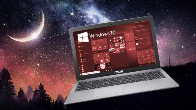 Windows 10-Nachtmodus ©Microsoft, Sergey Nivens-Fotolia.com, Asus