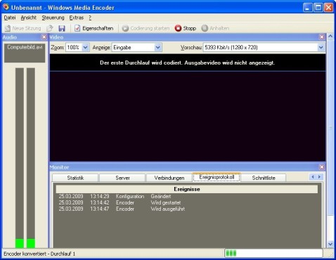 Screenshot 2 - Windows Media Encoder 9