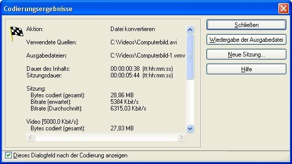 Screenshot 8 - Windows Media Encoder 9