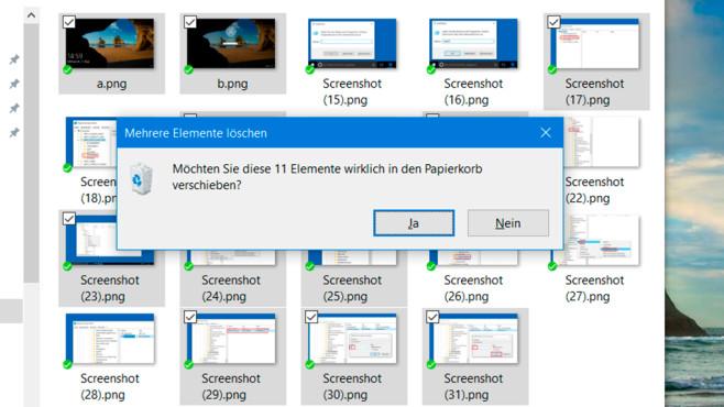 Windows 10 und 8: Elementkontrollkästchen einschalten ©COMPUTER BILD