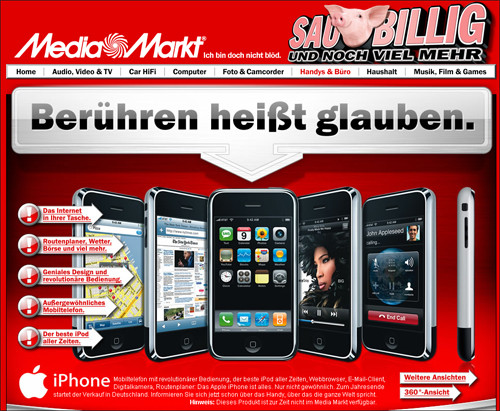 iphone verkauf auch im media markt computer bild. Black Bedroom Furniture Sets. Home Design Ideas