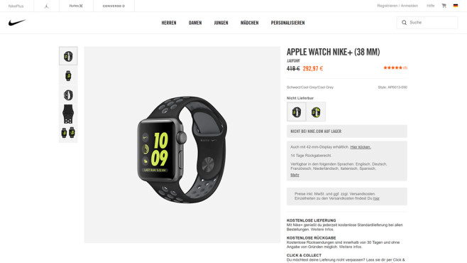 Apple Watch Serie 2 © Apple / Nike