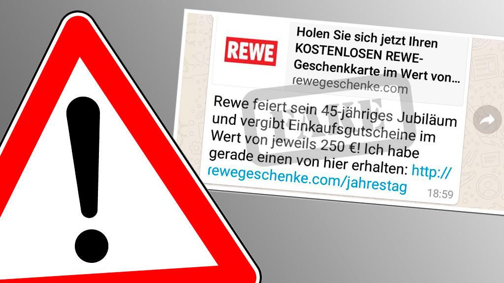 Vorsicht Falle: Datensammler locken mit Rewe-Gutschein!