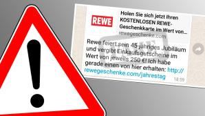 250-Euro-Gutschein von Rewe lockt in die Falle Betrüger versuchen bei WhatsApp und Facebook mit einem 250-Euro-Gutschein von Rewe abzuzocken. ©fotohansel – Fotolia.com, Mimikama