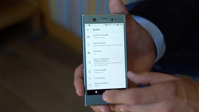 Sony Xperia XZ1 Compact Android 8.0 Oreo ©COMPUTER BILD