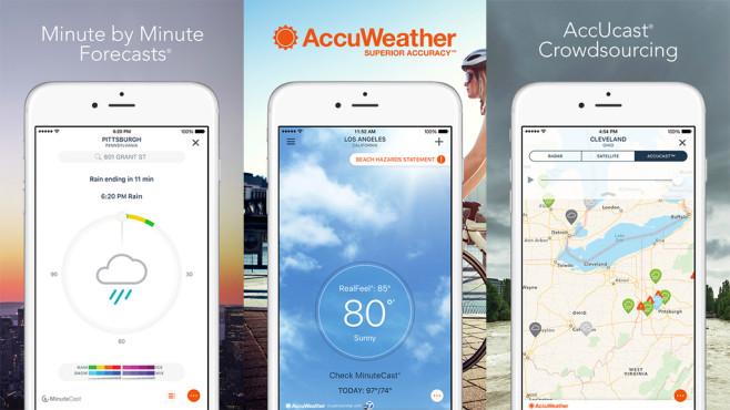 AccuWeather: App ©AccuWeather/App Store