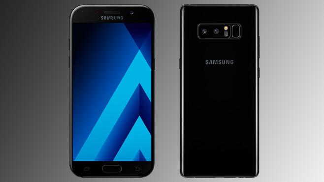 Samsung Galaxy A5 (2017) + Note 8 ©Samsung