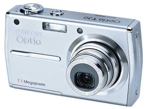 Pentax-foto : каталог товаров : optio t30 : вид сверху