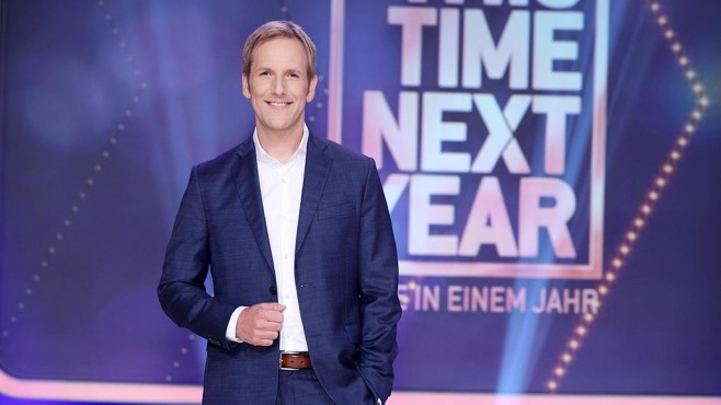 """Jan Hahn moderiert die neue Show """"This Time Next Year"""" ©RTL-D-Frank-W-Hempel"""