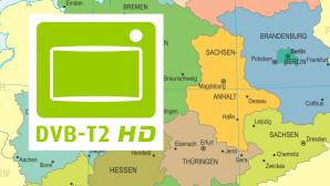 Deutschlandkarte zeigt DVB-T2-HD-Empfang ©pop_jop/gettyimages