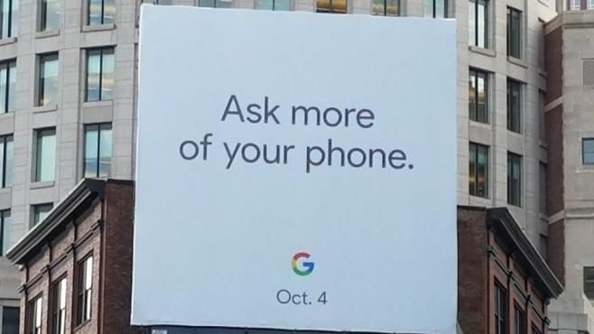 Google-Plakat: EVent am 4. Oktober ©Droid Life