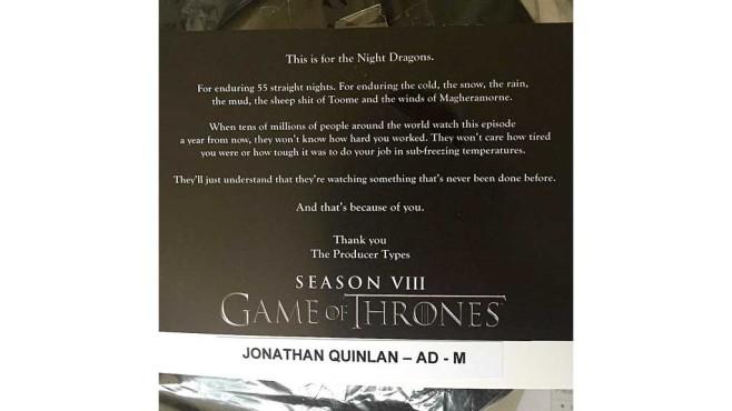 Game of Thrones: 55 Nächte Dreh ©watchersonthewall.com / Instagram: quinlanjonathan