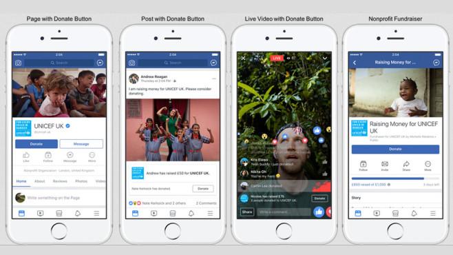 Facebook: Spenden-Button ©Facebook