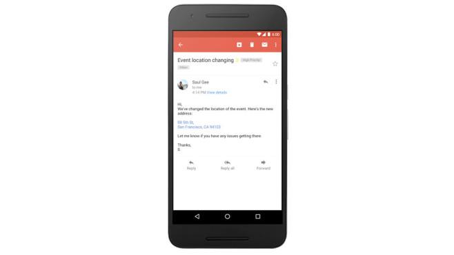 Gmail: Interaktive Mail-Inhalte ©Google