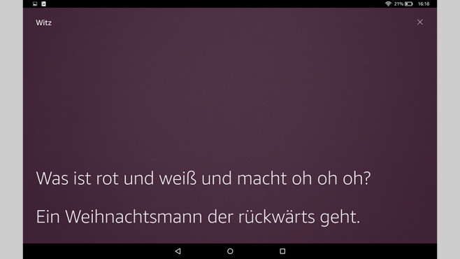 Amazon Fire HD10 (2017): Witze © Amazon