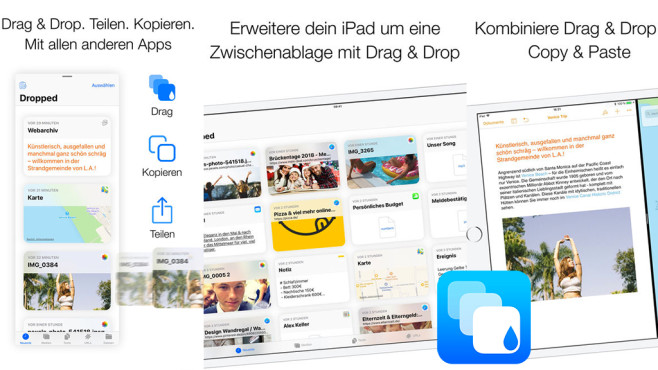 Dropped – Drag & Drop Clipboard © 2peaches GmbH