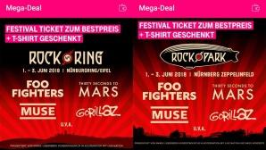 Telekom Mega-Deal zu Rock am Ring und Rocl im Park ©COMPUTER BILD