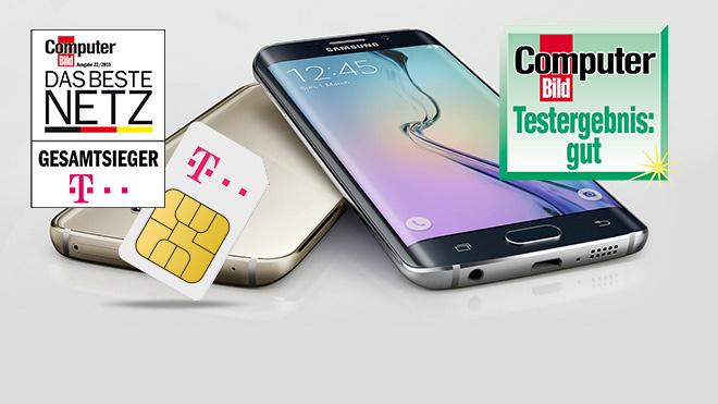 Galaxy S6 Edge und Preiskracher-Flat sichern. ©Samsung/Telekom/GetHandy/Mobilcom Debitel/COMPUTER BILD