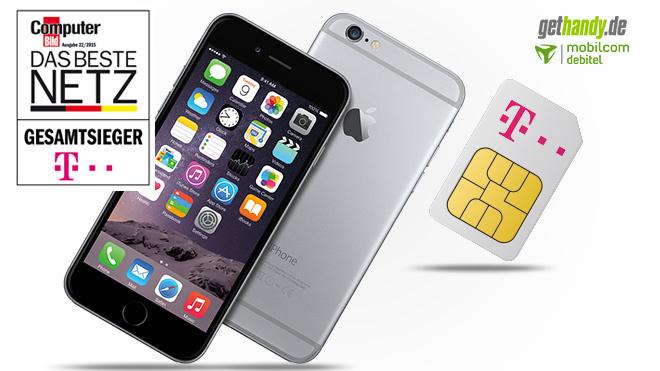 iPhone 6 und Preiskracher-Flat sichern. ©Apple/Telekom/GetHandy/Mobilcom Debitel/COMPUTER BILD