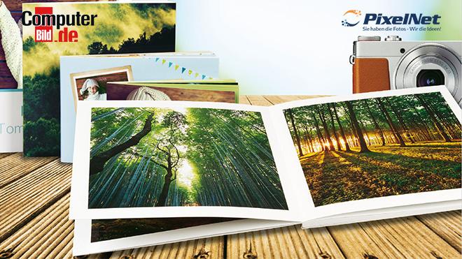 Aktion: 50 % Rabatt auf Premium-Fotobücher ©Pixelnet