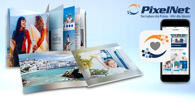 PixelNet: Fotobuch per App ©PixelNet, COMPUTER BILD