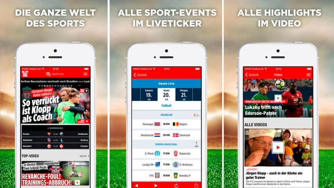 Jetzt neu: Die Sport BILD-App ©Axel Springer SE