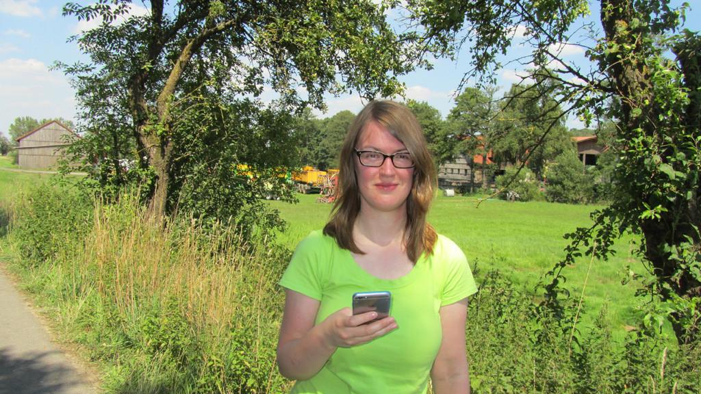 Daniela Schmelz: O2-Netztesterin ©Daniela Schmelz