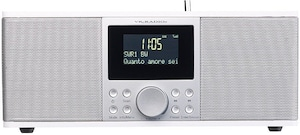 Digitales DAB+/FM-Stereo-Radio mit Bluetooth & Wecker, 30 Watt, weiß