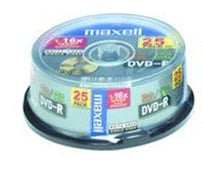 DVD-R 4,7GB 120min 16x 25er Spindel