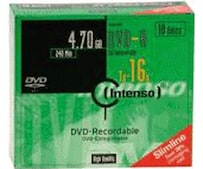DVD-R 4,7GB 120min 16x 10er Slimcase
