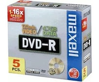 DVD-R 4,7GB 120min 16x 5er Jewelcase