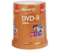 DVD-R 4,7GB 120min 16x 100er Spindel