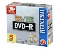 DVD-R 4,7GB 120min 16x 5er Jewelcase